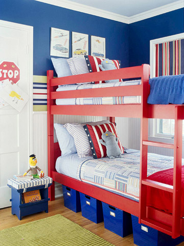 Bright Bunk Beds