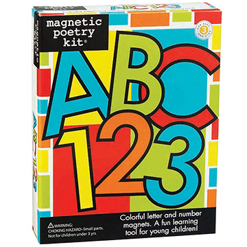Magnetic Poetry ABC and 123 Letter and Number Kit