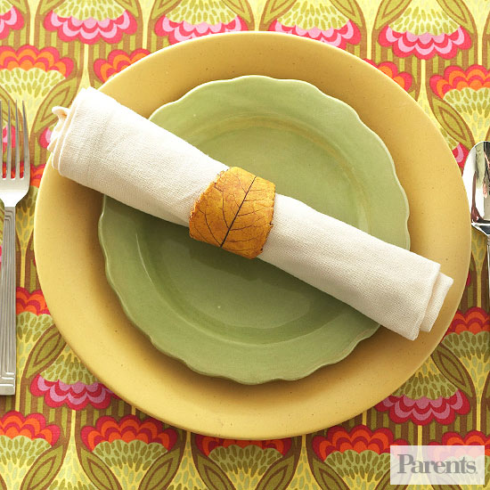 Clay Leaf Napkin Ring