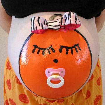 Baby Face Painted Belly