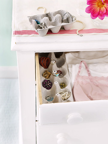 egg carton drawer organizer