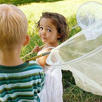 kids holding butterfly nets
