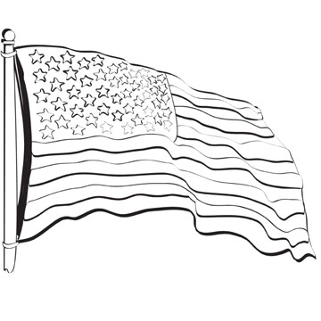 Flag Coloring Book Page