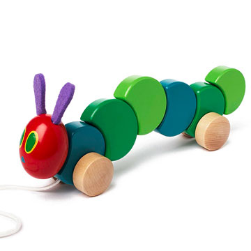 The Very Hungry Caterpillar Wood Pull Toy