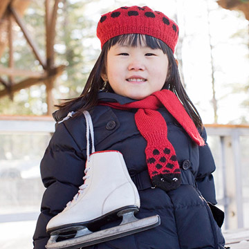 Child with ice skates