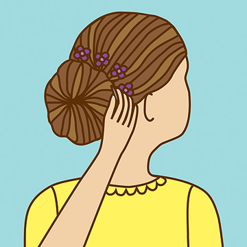 The Ballerina Chignon: Steps 4 - 6