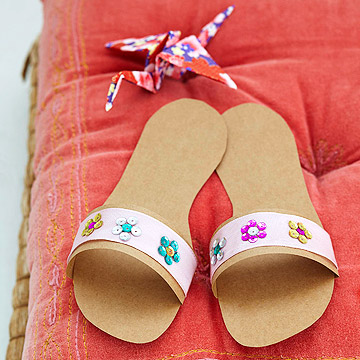Grocery bag paper slippers