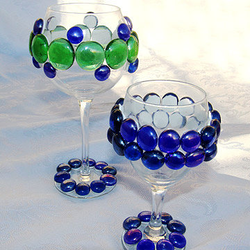 Bejeweled wine glass