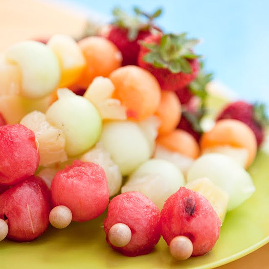 If you like ice pops, try fruit kebabs