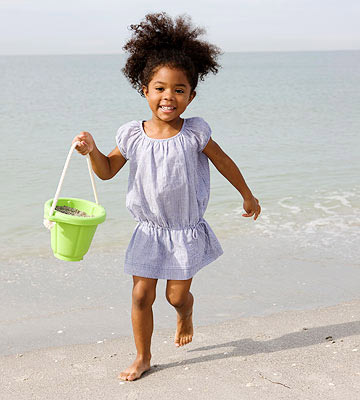 child at the beach
