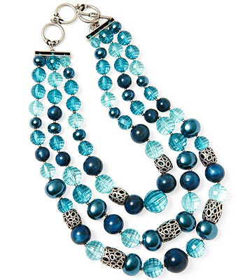 Jones New York Multistrand Beaded Necklace