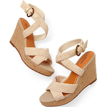 Old Navy Crochet X-Cross Wedges