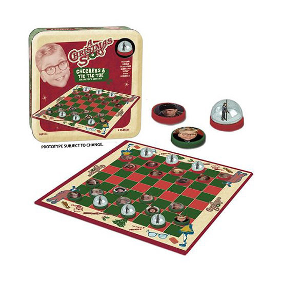 A Christmas Story Checkers/Tic Tac Toe
