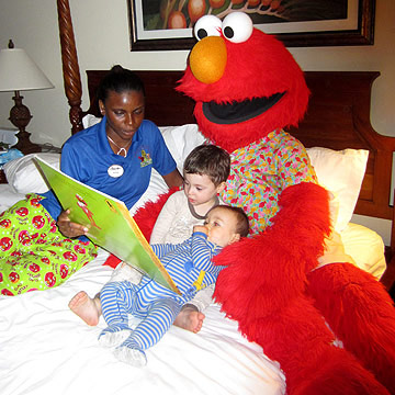 Meeting Elmo and Sesame Street Friends at Beaches Turks and Caicos Resort
