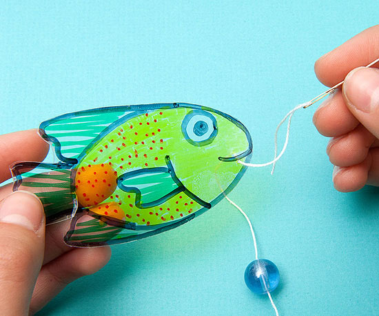 Floating Faux Fish, step 4