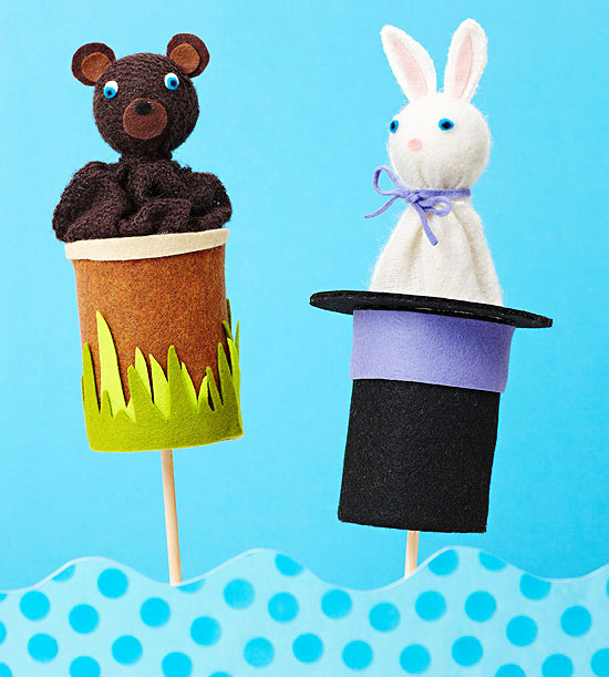 Pop-Up Animal Puppets