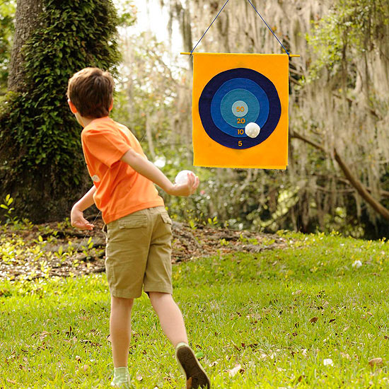 Make a Two-Way Backyard Target