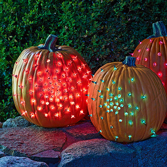 Glowing Gourds Halloween Decorations