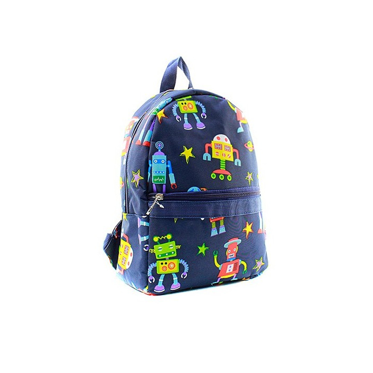 Backpack with robot design and padded adjustable straps