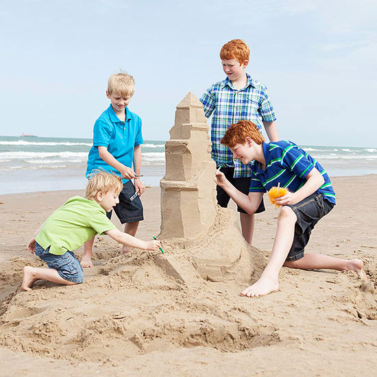 Family Travel Idea: Sand Castle-Carving Lessons