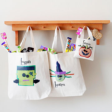 Personalized Halloween Bags