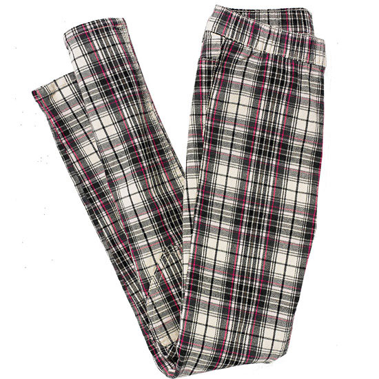 Plaid Pants with Heart Detail