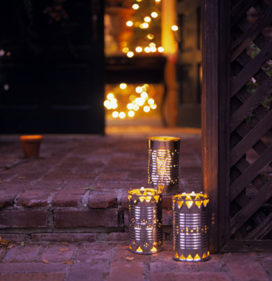 Metal Can Luminarias