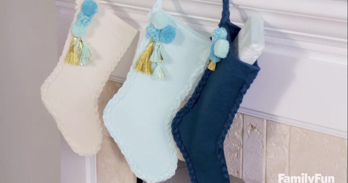Holiday DIY: Braided Felt Stocking
