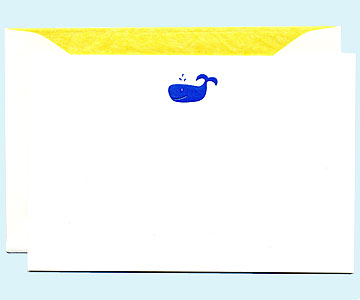 whale thank-you cards
