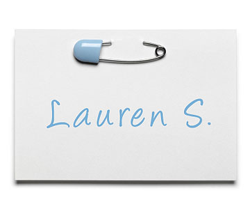 Diaper Shower place card