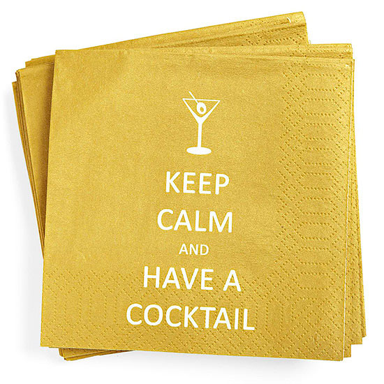 Keep Calm cocktail napkins