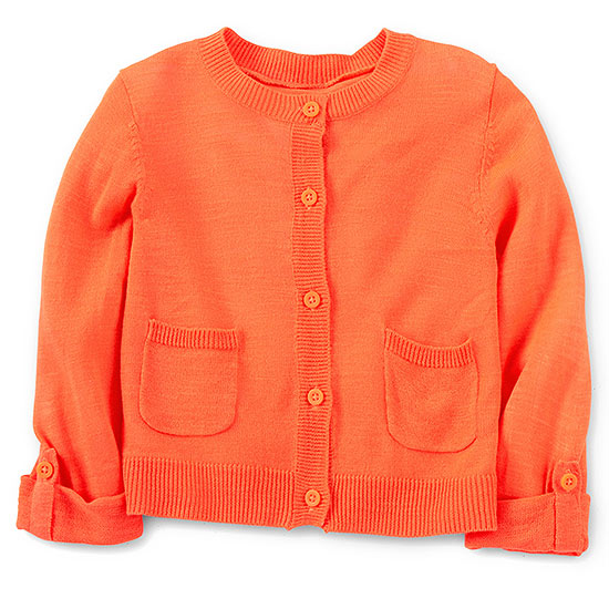 Carter's orange cardigan