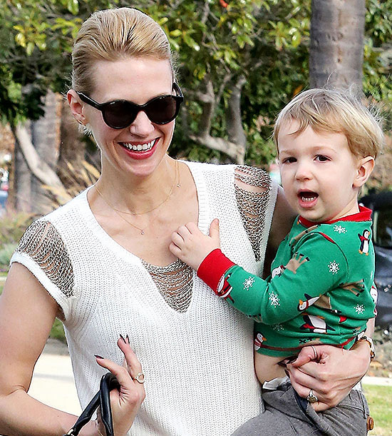 January Jones and Xander Jones
