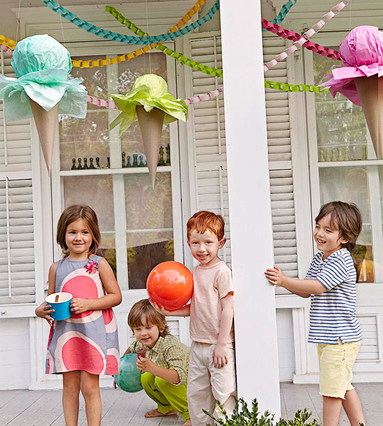 ice cream party decor