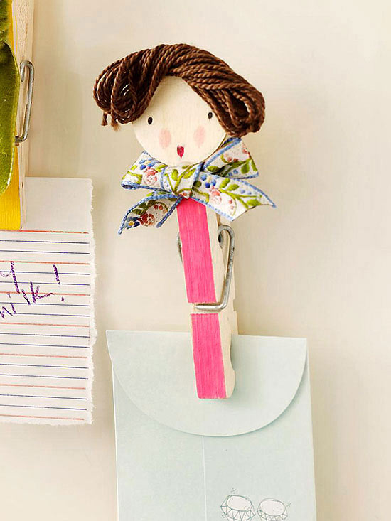 Magnetic clothespin clip