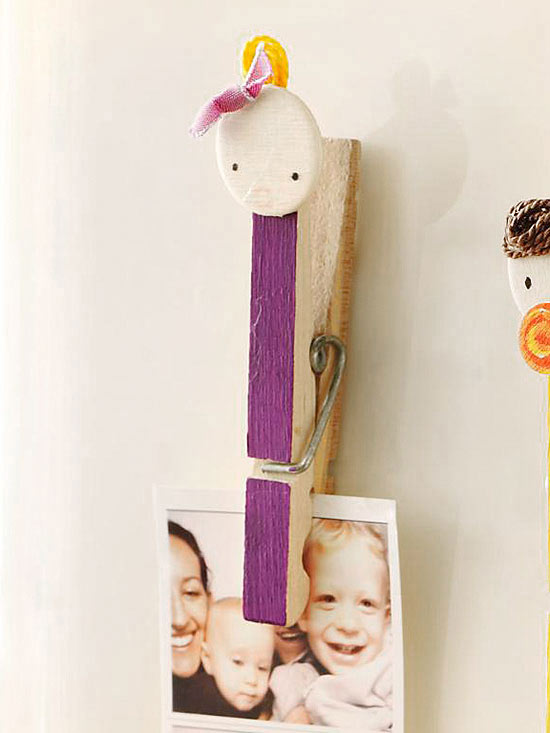 Clothespin Family: Hair Bow
