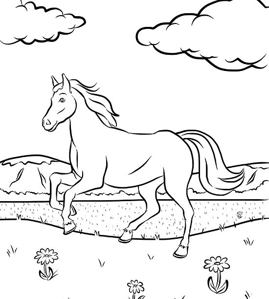 Free Horse Coloring Page Parents