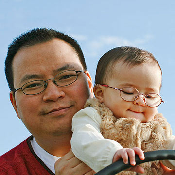 Ted Pham with daughter Madeline