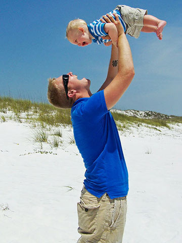 Spc. Joshua Lackey with son Jude, 6 months