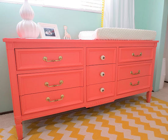 Coral changing table