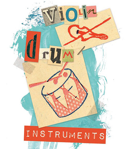 Violin-drum-instruments illo