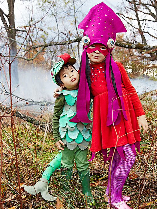 Sea creatures costumes