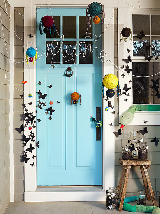 Spider web door craft