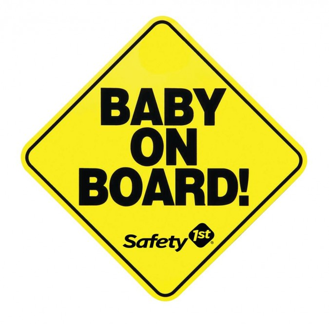 Baby on Board Safety 1st sign