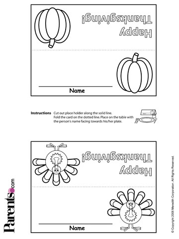 picture regarding Thanksgiving Place Cards Printable identified as Free of charge Thanksgiving Placecards, Stickers Much more for Young children