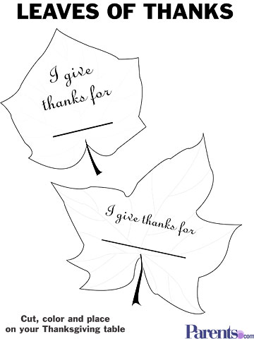 Leaves of Thanks Garland printable