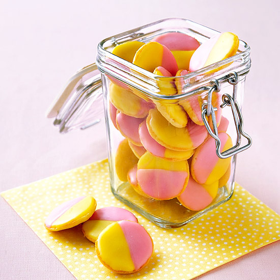 Pink-and-Yellow Cookies
