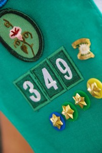 girl scout badges on vest