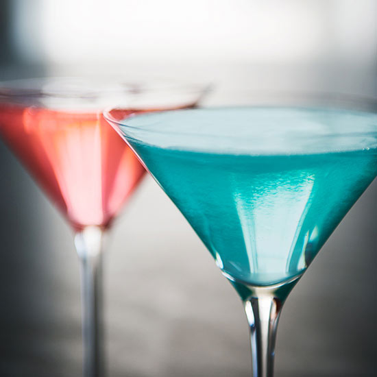 Color Coordinated Cocktail and Mocktail