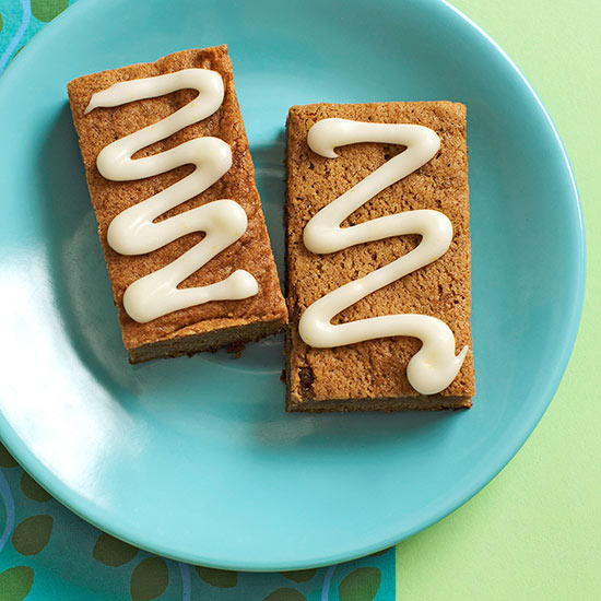 Two Gingerbread Bars on plate